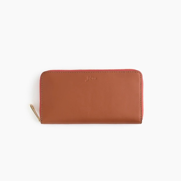 J. Crew Handbags - J. Crew Harper Continental Italian Leather Wallet
